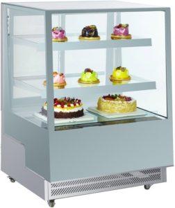 Stříbrná chladící vitrína NORDline ARC 400L